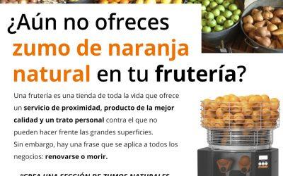 ¿Aún no ofreces zumo de naranja natural en tu frutería?