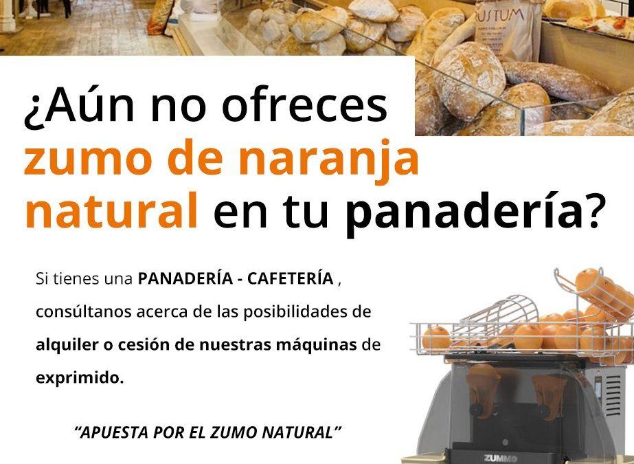 ¿Aún no ofreces zumo de naranja natural en tu Panadería?