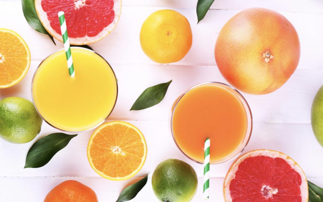 Zumos de fruta de temporada: naranjas, mandarinas, limones, pomelos y granadas